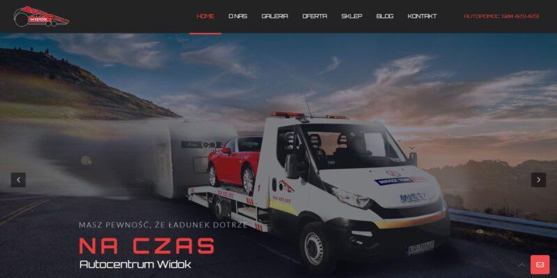 Autocentrum Widok strona internetowa