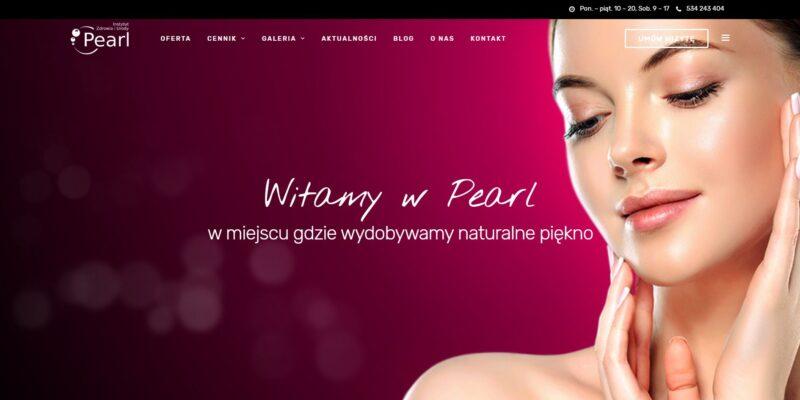 Portfolio - strona internetowa Pearl