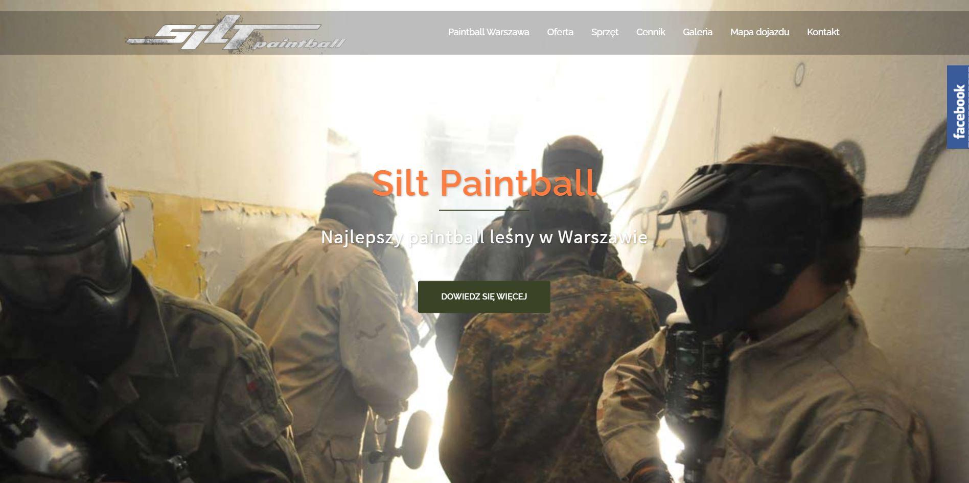 strona internetowa dla Silt Paintball