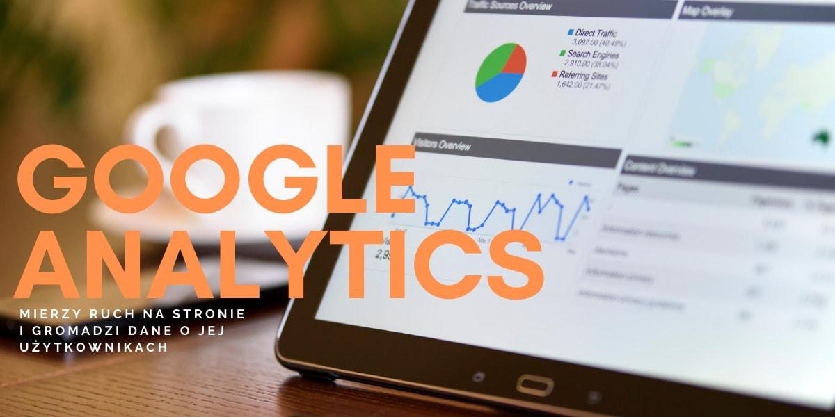 Ekran komputera z Google Analytics