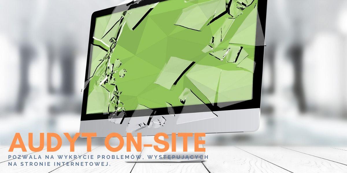 Napis Error i audytOn-Sitestrony internetowej