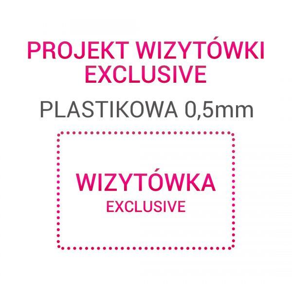 Wizytówka EXCLUSIVE Plastikowa 0,5mm