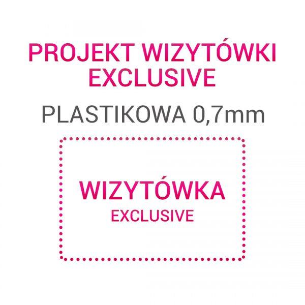 Wizytówka EXCLUSIVE Plastikowa 0,7mm
