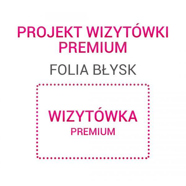 Wizytówka PREMIUM folia błysk