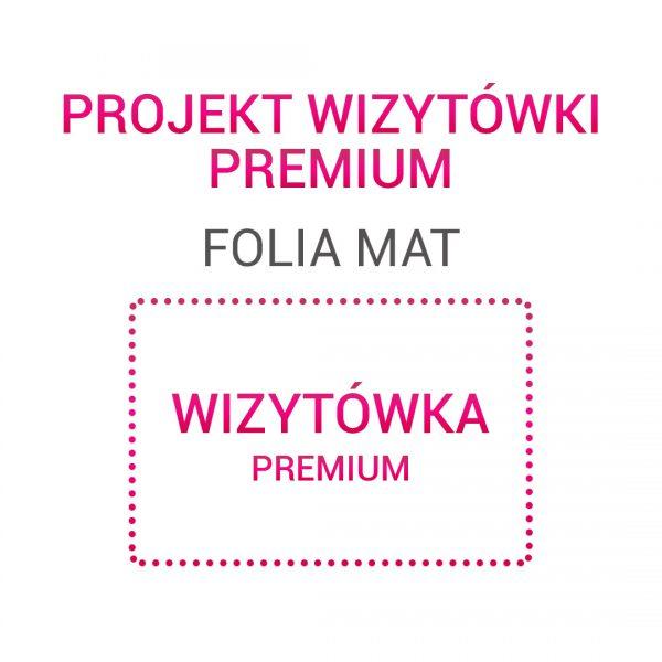 Wizytówka PREMIUM folia mat