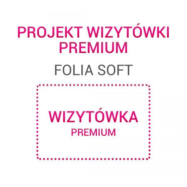 Wizytówka PREMIUM folia soft