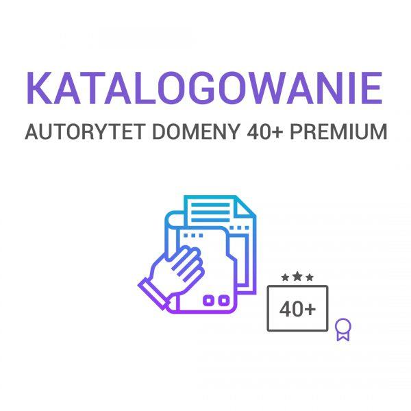 katalogowanie - AUTORYTET DOMENY 40+PREMIUM