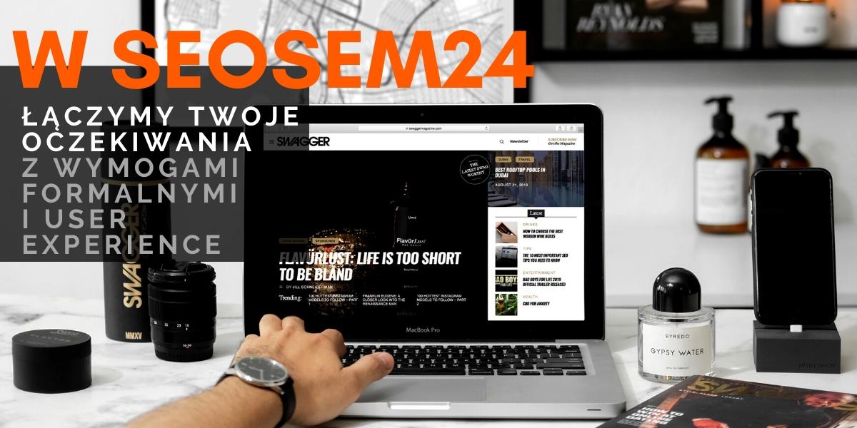Zbliżenie na stronę www firmy
