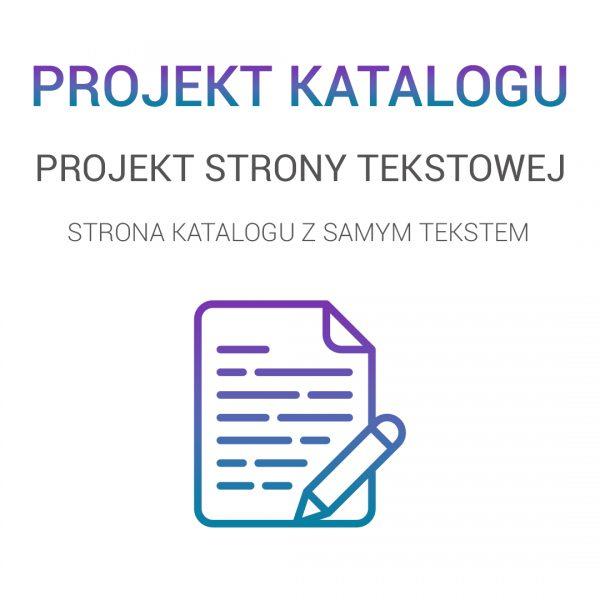 projekt strony tekstowej