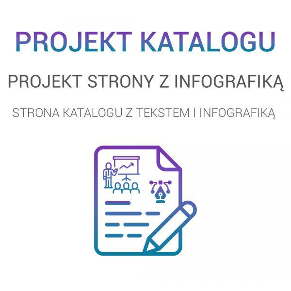 projekt strony tekstowej z infografiką
