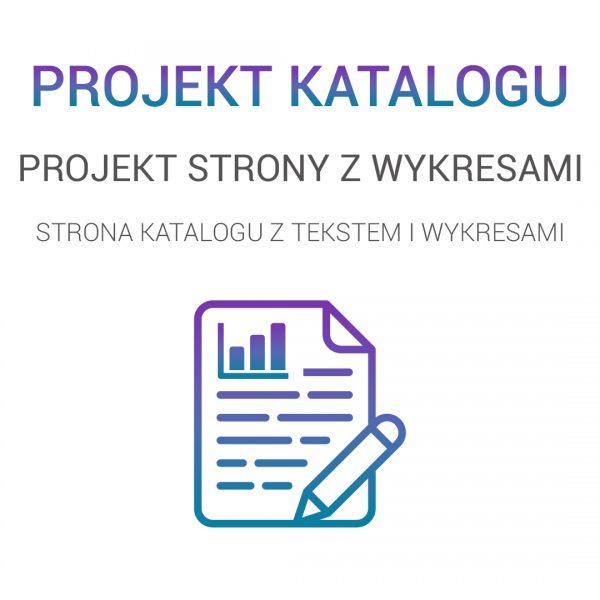 projekt strony tekstowej z wykresami