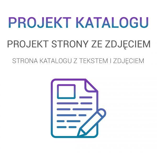 projekt strony tekstowej ze zdjęciem