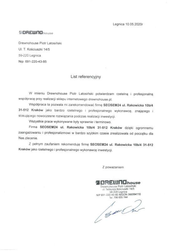 Drewnohouse referencje dla seosem24.pl