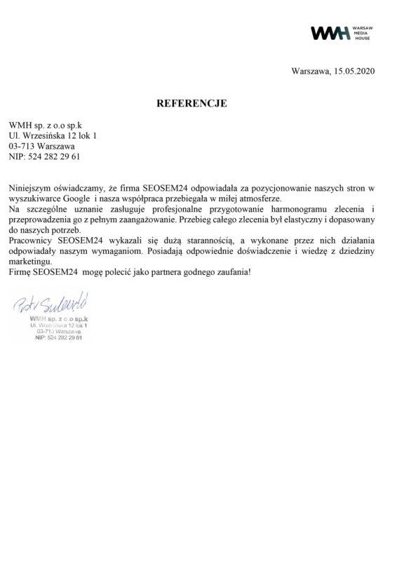 WMH referencje dla seosem24.pl