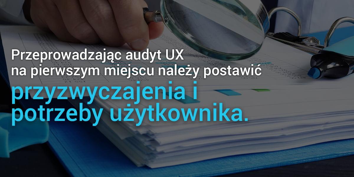 Strona internetowa audyt UX
