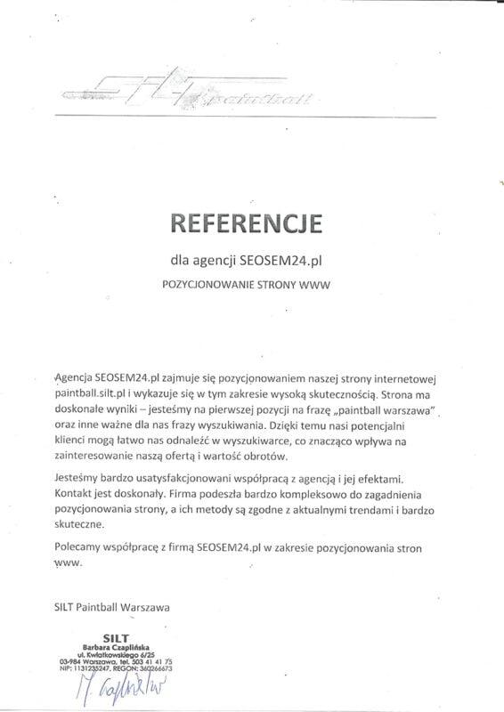 Referencje Silt