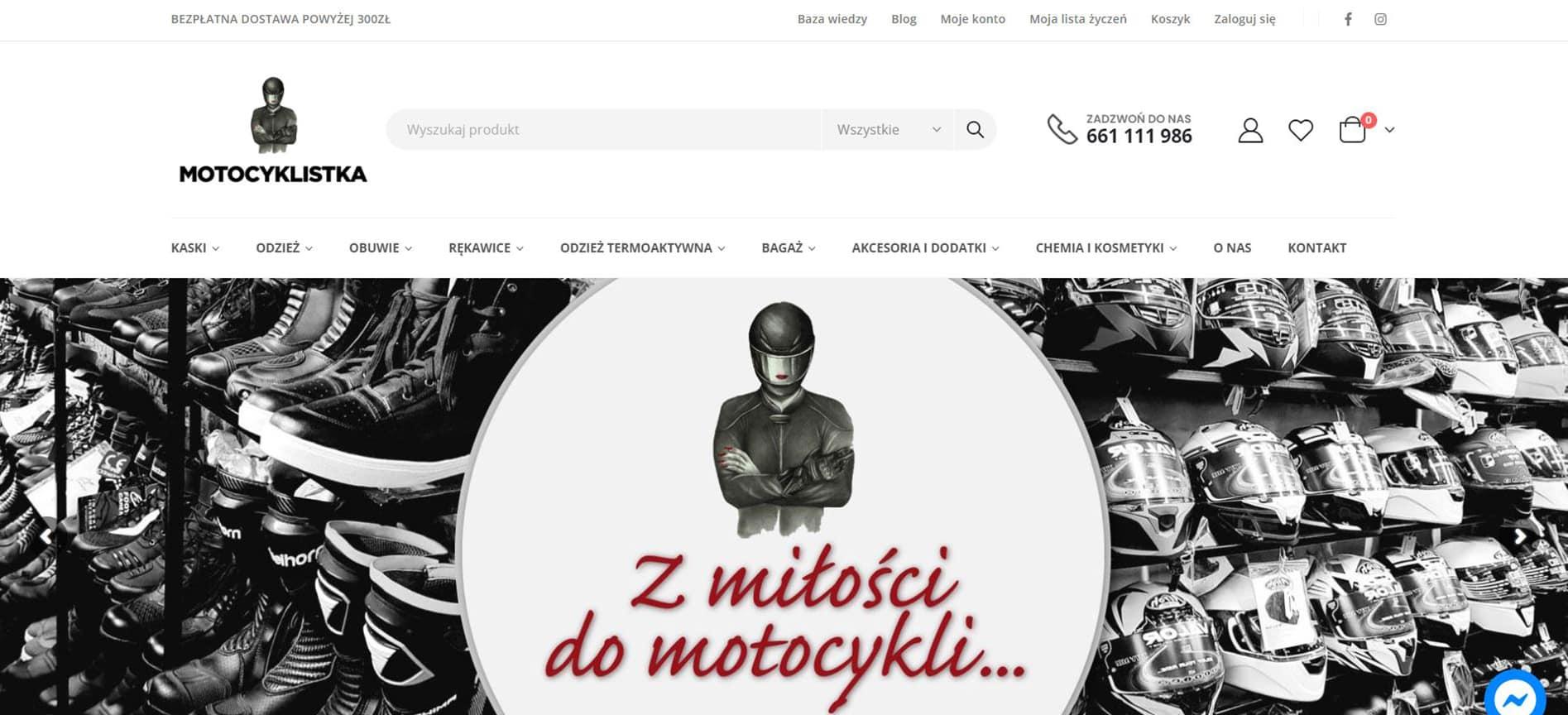sklep internetowy morocyklistka